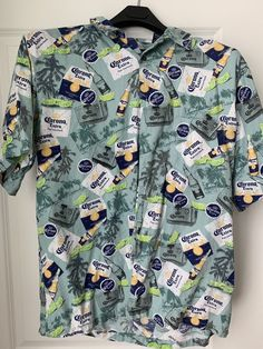 Newport Blue Men's Corona Extra Beer Bottle Lime Button Front Shirt Size XL #fashion #clothing #shoes #accessories #mensclothing #shirts (ebay link) Corona Shirt, Newport Blue, Xl Fashion, Beer Bottle, Online Price, Lime, Men Casual, Button, Clothing