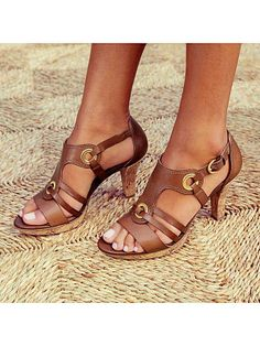 Women's Sandals Pumps Peep Toe Stiletto Heel Fabric Lace-up Sandals, veryvoga Lace Up Heels, Strap Heels, Low Heels, Strap Sandals, Wedge Sandals, Block Sandals, Heeled Sandals, Sexy Sandals, Ankle Strap