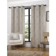 90x90in (228x228cm) Africa Animal Ivory Cream Eyelet Curtains
