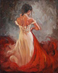 Por amor al arte: Mark Spain Tango Art, Flamenco Dancers, Woman Painting, Face Art, Beautiful Artwork, Painting Inspiration, Art Girl, Art Reference, Art Drawings