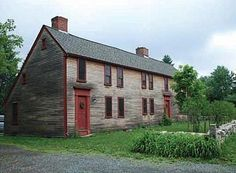 saltbox house | 1721 Early American Saltbox in Massachusetts...