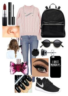 """""""#050"""" by molliethompsonn on Polyvore featuring Topshop, NIKE, Elizabeth and James, BERRICLE, MAC Cosmetics, Chanel and Viktor & Rolf"""