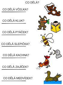 Pro Šíšu: Čtení s porozuměním Kindergarten Activities, Activities For Kids, Homeschool, Language, Bible, Jena, Teaching, Education, Logos