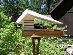 In Stock, Mid Century Modern Diner Bird Feeder, Googie .