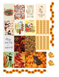 Full Fall Box with weekend banner Free THP (the happy planner by MAMBI) sticker. Free printable sticker layout may be subject to copyright not intended for retail; personal use only