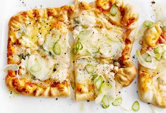 Pizza Quatro Formaggi mit Fenchel Eat Me Drink Me, Pasta, Snacks, Cauliflower, Cheese, Vegetables, Recipes, Food, Easy Meals