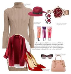 """""""Untitled #30"""" by ajusupovic ❤ liked on Polyvore featuring Maybelline, Rumour London, Prada, Michael Kors, Bebe, Christian Louboutin and Balenciaga"""