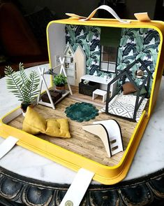 1:6 Barbie Dollhouse Miniature Beach Bag Purse Woven /& Towel Accessory Handmade