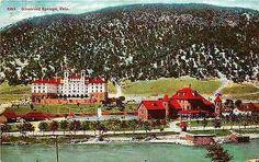 Glenwood Springs Colorado CO 1909 River Hotel Colorado Antique Vintage Postcard