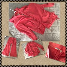 Express Peach Two Piece Suit NWOT! Sweater & Pants set very cute from Express. Both in size Large Express Tops Sweatshirts & Hoodies