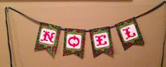 Noel Christmas Banner by BradyBanners on Etsy, $15.00