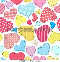Clipart - corazones, labor de retazos k5566835 - Buscar Clip Art, Ilustraciones de Murales, imagenes y Vectores EPS e imágenes gáficas - k5566835.eps