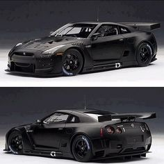 Mean looking Nissan GTR. When regular tires aren't enough, fill them with nitrogen and you get this incredibly fast car… http://ibeebz.com