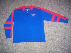 Vintage New York Rangers NHL Pro Player Long Sleeve Polo Shirt (Large) #NewYorkRangers