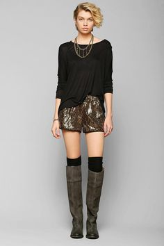Lucca Couture Sequin Pull-On Short #urbanoutfitters
