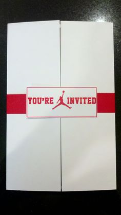 Air Jordan Baby Shower Invitation.  I might have to do this in the future. My husband would love this!
