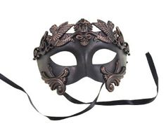 Amazon.com: RedSkyTrader Mens Mythological Greek Style Party Mask One Size Fits Most Copper: Clothing