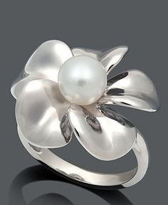 Buy Pearl Ring, Sterling Silver Cultured Freshwater Pearl Flower mm) at Wish - Shopping Made Fun Pearl Jewelry, Jewelry Rings, Silver Jewelry, Jewelry Accessories, Fine Jewelry, Jewelry Design, Jewelry Watches, Pearl Rings, Pearl Bracelets