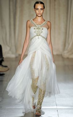 Photo by firstVIEW  Marchesa is on the Darjeeling Express.   Marchesa Spring 2013 RTW, New York.