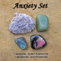Anxiety+Crystal+Healing+Set++Aventurine+by+dragonfaecreations,+$8.00
