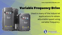 Variable Frequency Drive! Used in many of the industrial applications to obtain adjustable speed using variable frequency. #VFD #Electrical #Exporters #ImperialWorldTrade