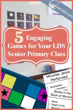 Great ideas! I'm going to start using a game every week for my LDS lessons! Sunday school