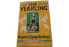 "A first edition of Marjorie Kinnan Rawlings' The Yearling, published by Scribner's in 1938. Winner of the Pulitzer Prize. Scribner seal and the ""A"" on the copyright page. This book was edited by Max Perkins who also edited books by Hemingway and Fitzgerald. Rawlings had submitted several projects to Perkins, and he rejected them all. He instructed her to write about what she knew from her own life, and here is the result. A very good copy with rubbing to spine, nice jacket."