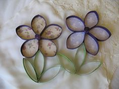 ... flower art / Upcycled Toilet Paper Rolls / Upcycle paper towel roll