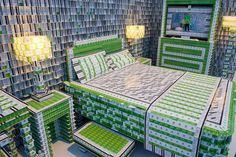 Holiday Inn's hotel suite, made of 200,000 keycards. The exhibition was on view in Manhattan and now a gallery in Memphis.
