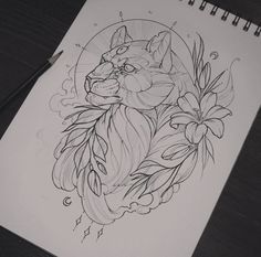 Traditional Tattoo Sketches, Traditional Tattoo Woman, Traditional Tattoo Design, Traditional Tattoos, Sketchbook Drawings, Tattoo Drawings, Drawing Sketches, Body Art Tattoos, Tiger Sketch