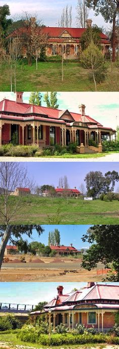 Cambourne Homestead, Wodonga, was built by 1903 for Rebecca S. Carkeek. It is situated on the original Wodonga run which was established in 1836, and gave the town of Wodonga its name. After subdivision the Cambourne property was developed on one of the allotments; it went through a series of owners until purchased in 1899 by Rebecca Carkeek, wife of William Carkeek, publican of Wodonga and shire councillor. The prolific local architects Gordon and Gordon have been credited with the… Australian Architecture, Australian Homes, Front Verandah, Local Architects, Sell Your House Fast, Queenslander, Interior Garden, Victoria Australia, Country Farm
