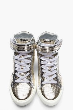 3ab2c264a95f6d Pierre Hardy for Men SS18 Collection. Silver ShoesMetallic ...