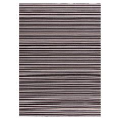 Reversible flat-woven wool rug with a horizontal stripe motif.  Product: RugConstruction Material: Wool...