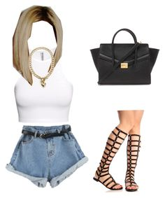 """Untitled #2"" by ambriaamari on Polyvore featuring H&M, CC, Juicy Couture and Forever 21"