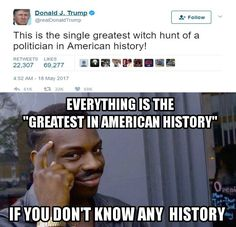 Actually, I would call the real torture and murder of suspected witches the greatest witch hunt in American history...