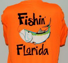 UPF 50,Dri Fit Long Sleeve Performance Shirt: Fishin' Florida Tarpon
