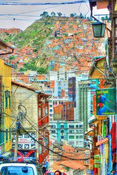 Someday i will visit Bolivia.    ~photo of - La Paz, Bolivia~