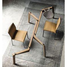 Madera y vidrio, una buena idea para comedor o escritorio. #maistromx…