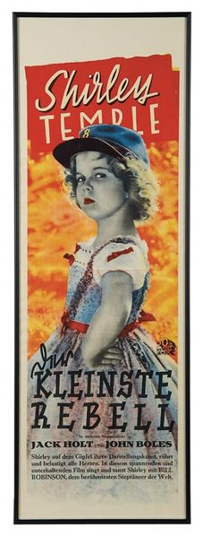 """Love, Shirley Temple, Collector's Book: Lot # 433 German Film Poster """"Kleinste Rebell"""" for Shirley Temple's 1935 Film """"The Littlest Rebel"""""""