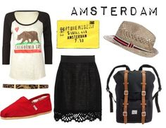 love the casual look with the lace skirt! the backpack is perfect too!
