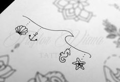 Tattoo Female Hip Writing Ideas - Tattoo Female Hip Writing Ideas Informations About Tattoo Femininas Quadril Escrita - Mini Tattoos, Cute Tattoos, Leg Tattoos, Beautiful Tattoos, Body Art Tattoos, Small Tattoos, Tatoos, Small Beach Tattoo, Ocean Life Tattoos