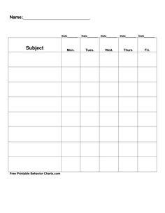 Blank chart Family Tree 30 Beautiful Behavior Charts For Teachers Pdf Free Chart Templates Pinterest Free Printable Blank Charts Printable Blank Charts Image Search