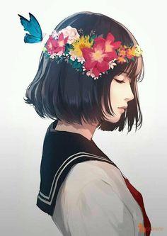 รูปภาพ anime, kawaii, and color+colorful+cutie Art Anime, Anime Art Girl, Manga Girl, Manga Anime, Beautiful Anime Girl, Cute Art, Character Art, Art Drawings, Illustration Art
