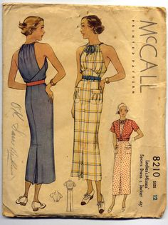 1930s Sports Dress & Jacket  Poirot Era by PatternAndStitch,Dress Illustration ~ I'm beginning to appreciate the 1930s -- and surprisingly, even the 1940s and 1950s