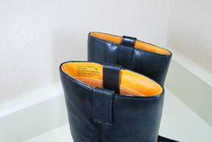 Frye Harness Boots Vintage KIDS Black Leather by IveGoneModVintage, SOLD