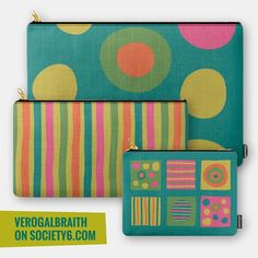 All sorts of lovely products from the Eye Candy print collection available on Society6  [link in bio] ... These colourful and fun carry-all pouches are perfect for all those bits and bobs we don't know where to put... I'm such a fan of bags boxes and all kinds of containers!   #surfacepatterndesign #surfacepatterndesigner #surfacedesign #surfacedesigner #patterndesign #patterndesigner #printdesign #printdesigner #surfaceprint #surfacepattern #print #prints #printlove #pattern #patternlove…