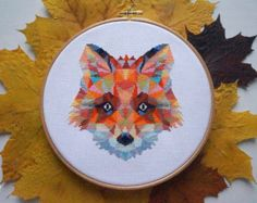 Geometric Bunny Cross Stitch Pattern PDF par VelvetPonyDesign