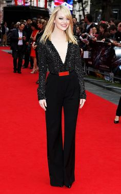 That time she looked incredibly cool in a sparkly jumpsuit—before jumpsuits were cool: