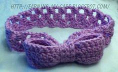 Earning-My-Cape: Crochet Bow Headband