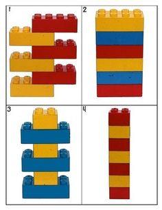 Students can copy lego patterns from these printable cards.: Students can copy lego patterns from these printable cards. Lego Duplo, Lego Therapy, Visual Perception Activities, Lego Activities, Preschool Math, Card Patterns, Printable Cards, Kids Education, Pre School